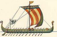 Основой для воссоздания этого судна послужил рисунок знаменитого гобелена из Байё, рассказывающий о высадке в 1066...